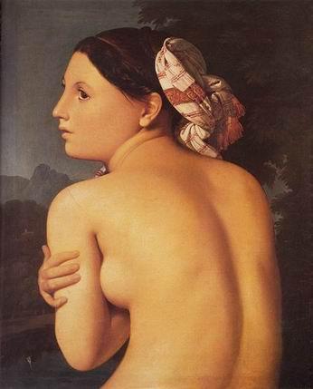 Ingres, un nouveau Picasso? en tout cas un érotomane Half_figure_of_a_Bather